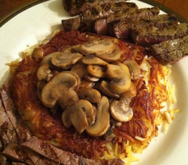Steakhouse Sirloin With Golden Hash Browns & Mushrooms #5FIX