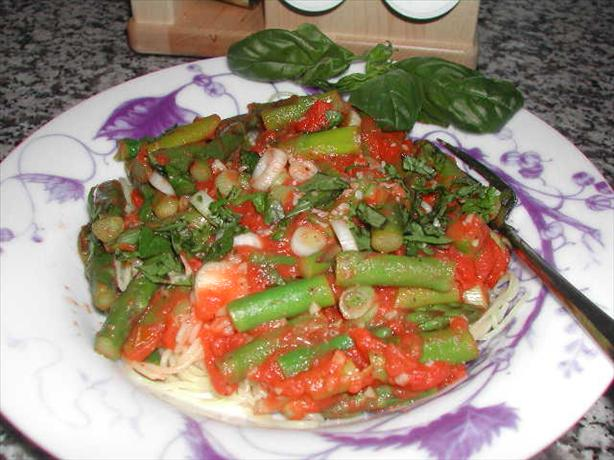 Angel Hair with Asparagus & Tomatoes
