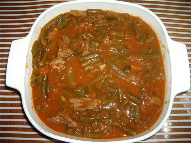 Green Bean Stew (Arabic Recipe)