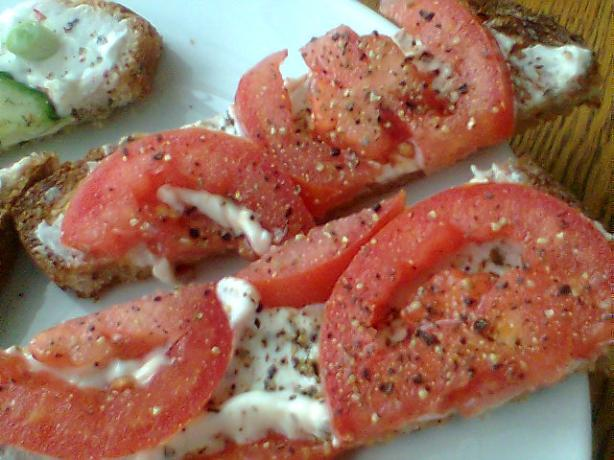 My Favorite Open-Faced Tomato Sandwich