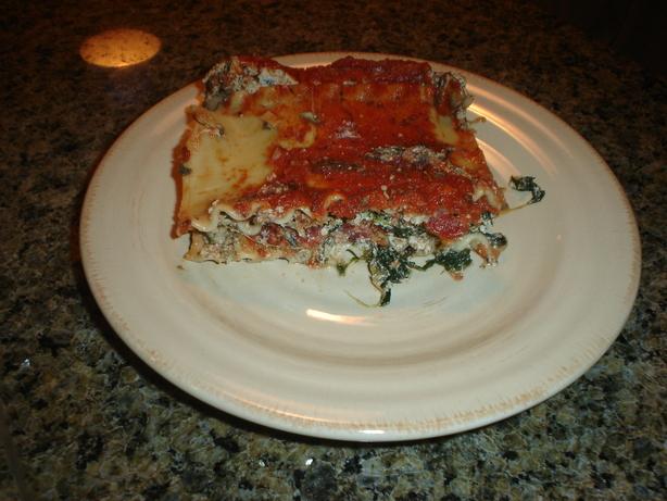 Spinach & Mushroom Lasagna