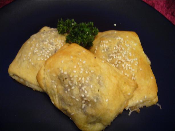 Cheesy Mushroom Crescent Puffs