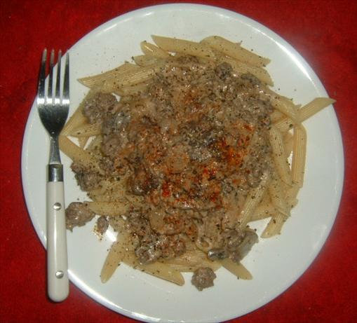Venison (Or Beef ) Mushroom Stroganoff