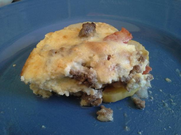 Moussaka With Yogurt Sauce (Gluten Free)