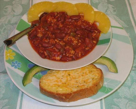 Pineapple Salsa Pork Chili