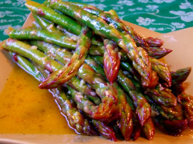 Cold Asparagus With Mustard Dressing