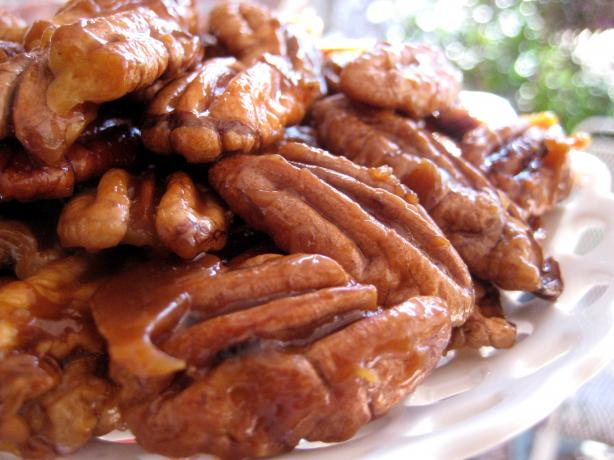 Quick Candied Pecans