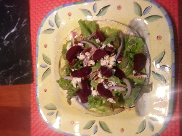Mixed Beet Salad With Maple Dijon Dressing