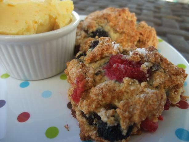 Tyler Florence's Berry Scones With Orange Honey Butter