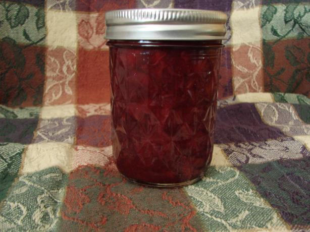 Tart Cherry Jam - cooked