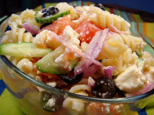 Fat Belly Greek Pasta Salad