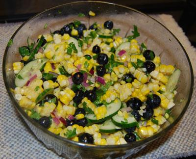 Summer Corn & Blueberry Salad
