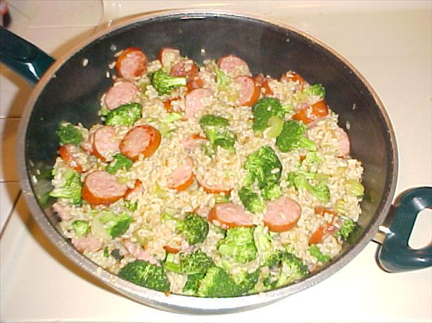 Broccoli and Sausage With Rice