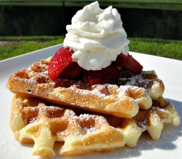 Breakfast on the Deck Sour Cream Waffles