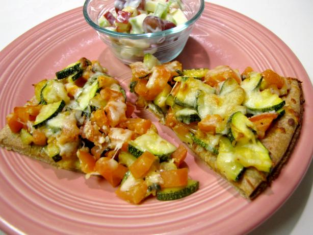 Zucchini and Fresh Tomato Pizza With Fontina