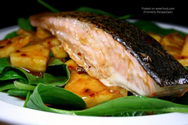 Jamika's Salmon With Pineapple Salsa