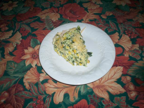 Zucchini-Sweet Corn-Ricotta-Quiche