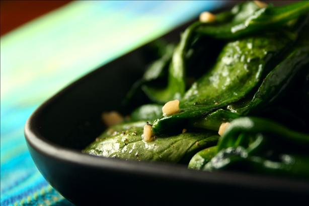 Spinach Sautéed With Garlic and Pepper