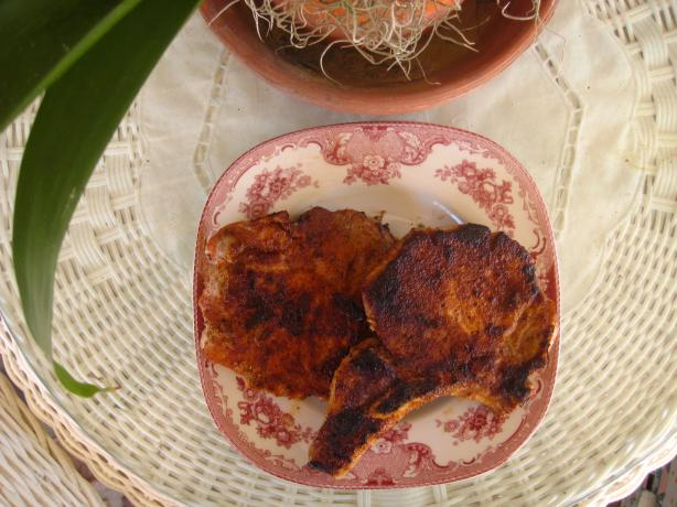 Cajun Rubbed Pork Chops