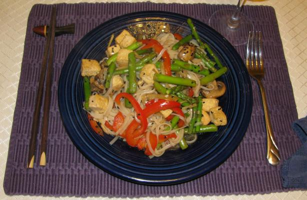 Cynbill's Asparagus Ginger Tofu Stir-Fry