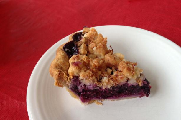 Blueberry-Pineapple Pina Colada Pie