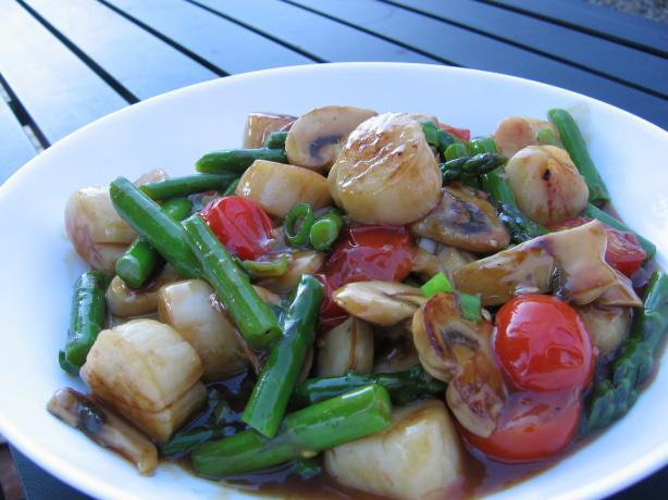 Scallop & Asparagus Stir Fry