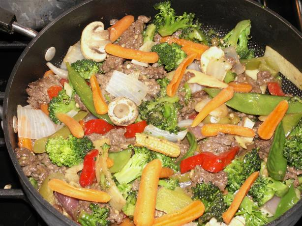 Vegetable and Beef Stir-Fry With Brown Rice