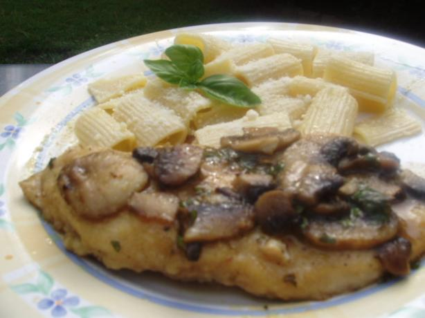 Basil Chicken Marsala With Mushrooms