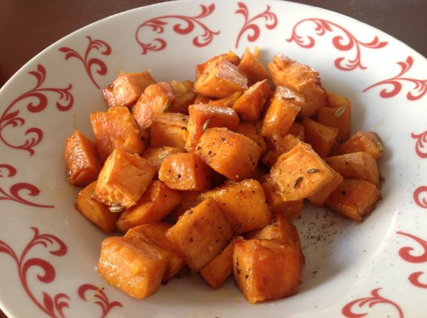 Roasted and Spiced Sweet Potatoes
