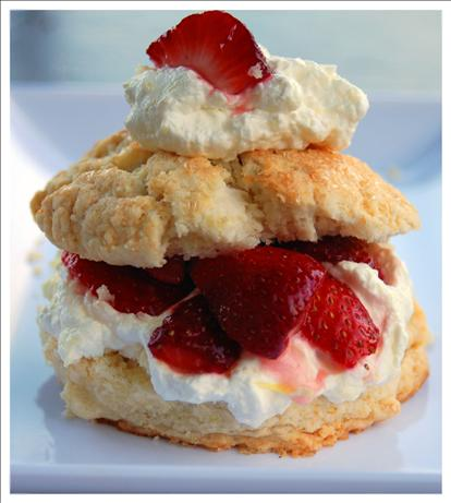 Strawberry Shortcake With Meyer Lemon Cream