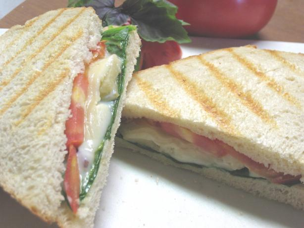 Four Cheese Panini With Basil Tomatoes