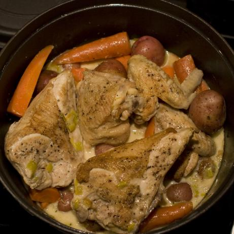 Chicken in Riesling (Coq Au Vin Blanc)