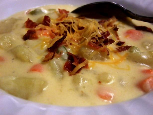Kittencal's Cheddar Cheese & Potato Soup