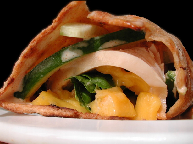 Smoked Turkey and Mango Wrap