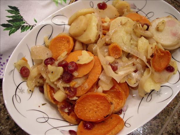 Root Vegetable and Cranberry Bake