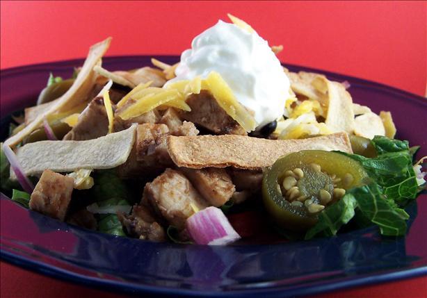 Low-Fat Chicken Tostada Salad