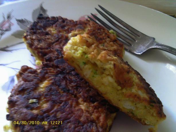 Zucchini Feta Flapjacks