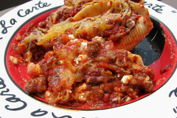 Stuffed Lasagna Shells.