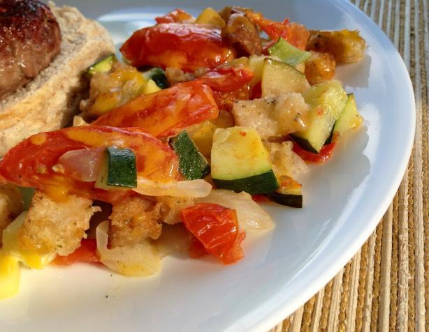 Tomato-Zucchini Scallop
