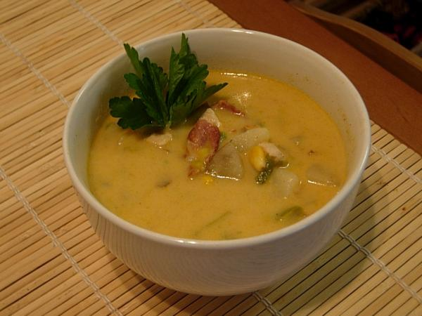Chicken Chowder With Bacon