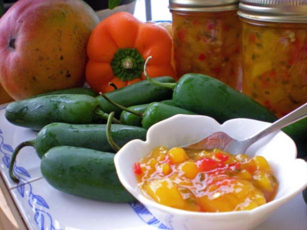 Mango - Jalapeño Pepper Jelly Made With Gelling Sugar