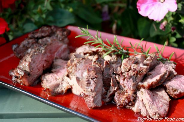 Grilled Leg of Lamb With Garlic and Rosemary