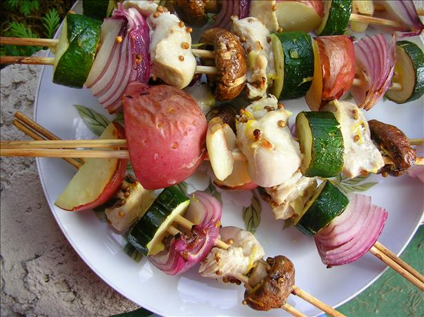 Lemon Ginger Coriander Chicken Kebabs