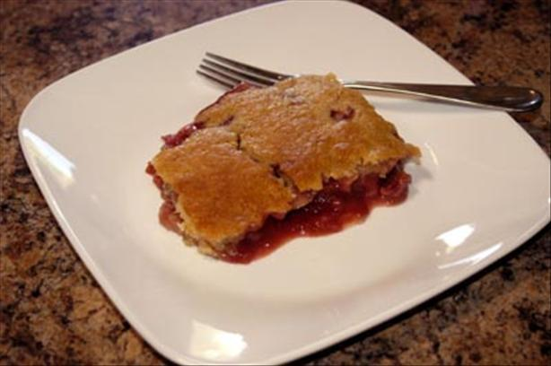 Chef Joey's Strawberry Rhubarb Cobbler (Vegan )