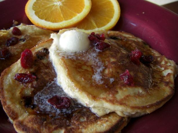 Cranberry Ricotta Pancakes