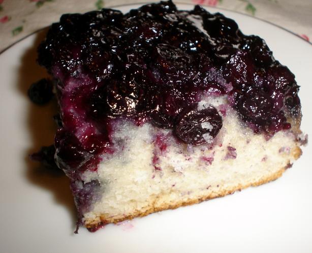 Blueberry Upside-Down Cake