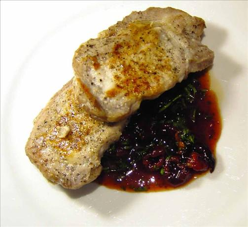 pork medallions with cherry port sauce