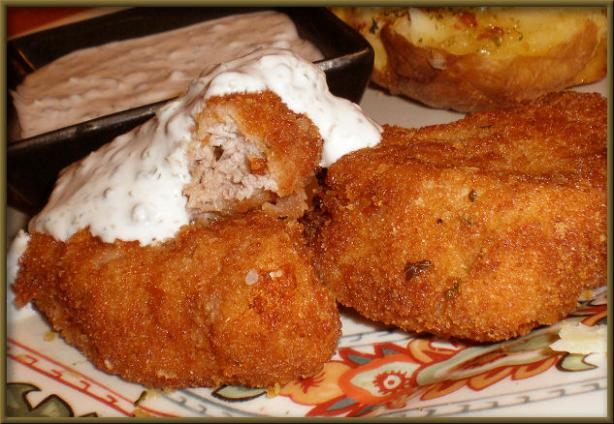 Crisp Pork Medallions With Creamy Caper Sauce