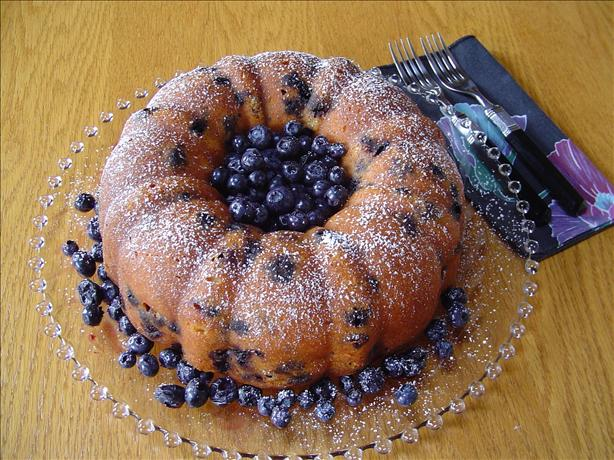 Wild Blueberry Bundt Cake