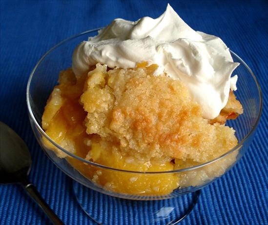 Super Easy Peach Cobbler